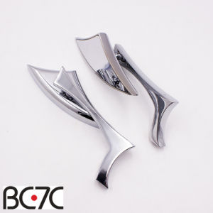 Chrome Motorcycle Blade Knife shaped Rear View Mirrors Aluminum Side Mirror For Harley