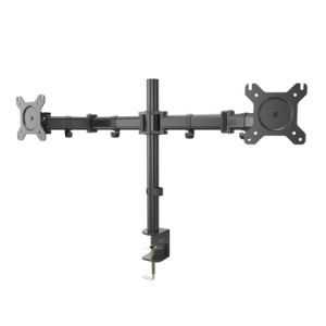 BIG SALE Dual LCD LED Monitor Desk Mount Heavy Duty Fully Adjustable Fits 2/Two Screens up to 27""
