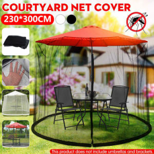Free shipping Patio Umbrella Nets Cover Mosquito Netting Outdoor Parasol Mosquito Mesh Screen
