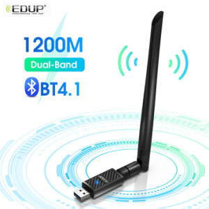 1200Mbps USB Wireless WiFi bluetooth Adapter 2.4/5GHz Dongle Network Card 2dBi Antenna Dual Band AC Wi-Fi Receiver for PC Laptop