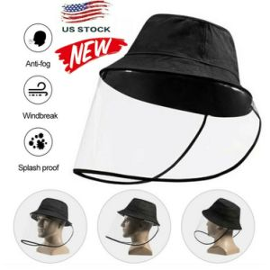 Fisherman's hat, transparent mask anti-saliva and dustproof sun hat hat, outdoor beach life dual-use hat