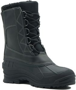 Men's Insulated Snow Boots,Removable soft plush liner,Waterproof and flexible synthetic rubber shell