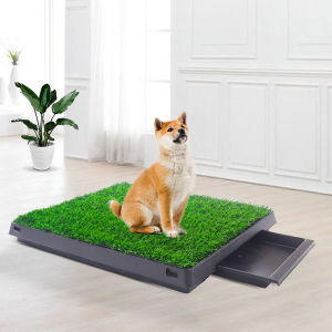 Artificial Dog Grass Mat, Indoor Potty Training, Pee Pad for Pet,with the drawer