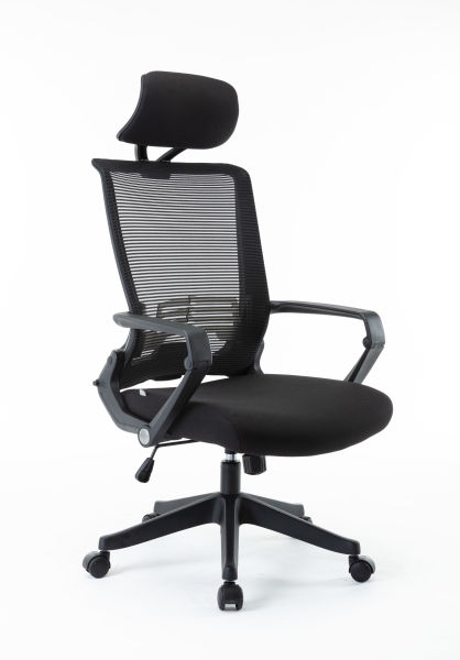 dropship Free Shipping Mesh Office Chair, High Back Chair - Adjustable Headrest with Arms,  Lumbar Support