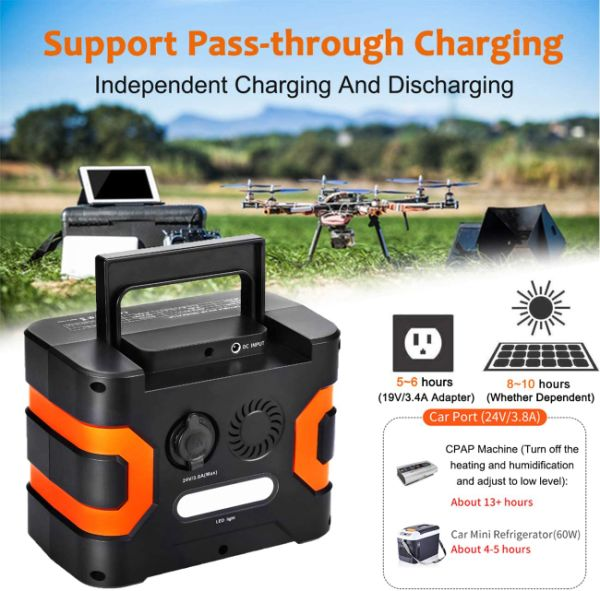 dropship 330W Portable Power Station, Flashfish 300Wh 81000mAh Solar Generator CPAP Backup Battery Emergency Power Supply with 110V AC Outlets, 12V/24V DC, QC3.0 USB, LED Flashlight for Camping Trip Home