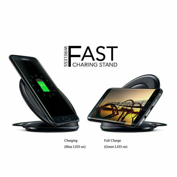 dropship Free shipping New Fast Qi Wireless Charger Charging Pad Stand Dock for iPhone Samsung