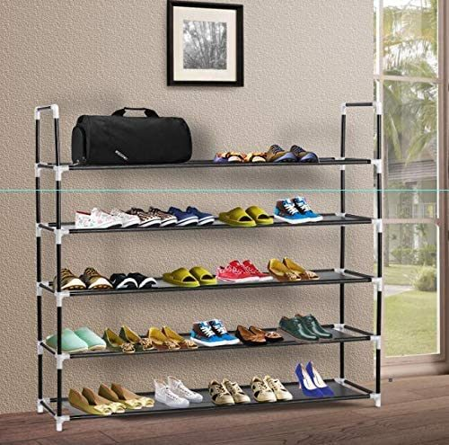 dropship Durable and Stable Shoe Organizer 25 Pairs Space Saving Shoe Tower Non-Woven Fabric Shoe Shelf
