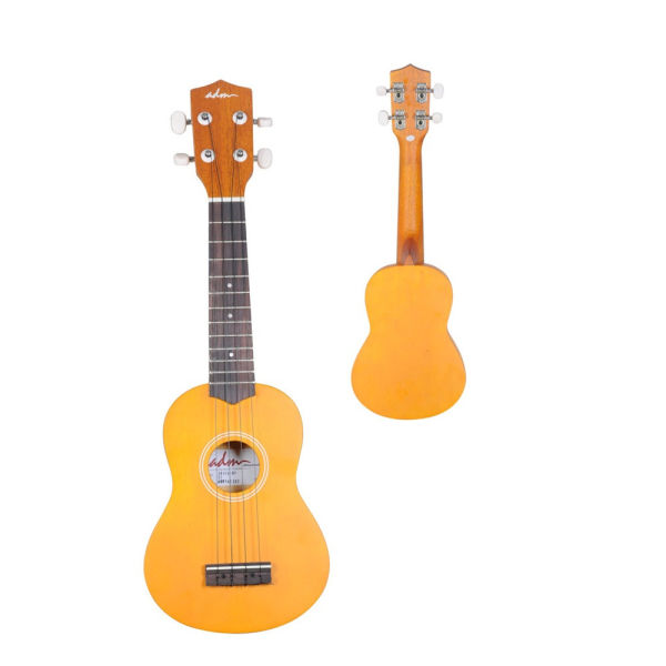 dropship 21 Inch Soprano Ukulele with Gig Bag, Honey Yellow Color