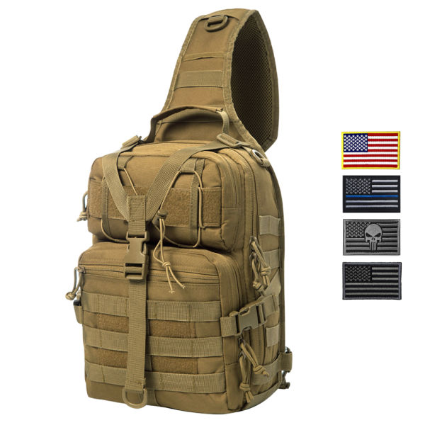 dropship Actical Sling Bag Pack Military Rover Shoulder Sling Backpack EDC Molle Assault Range Bag Everyday out Carry Diaper Bag Carry Bag Small Dyt-003