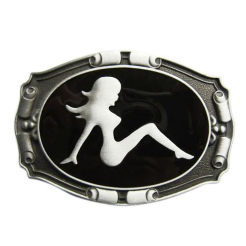 dropship Western Zinc alloy Leather Belt Buckle Vintage Motorcycle girl Pattern