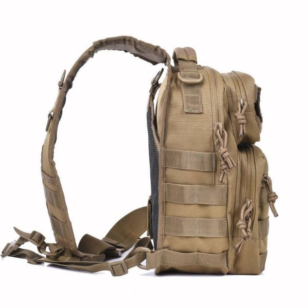 dropship Tactical Sling Bag Pack Military Rover Shoulder Sling Backpack Molle Range Bag EDC Small Day Pack with Padding Pocket DYT-001