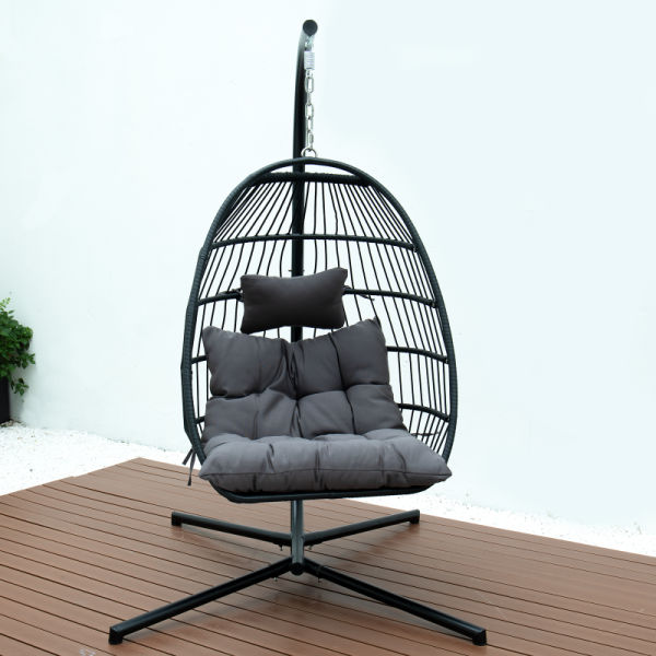 dropship FOLDING SINGLE SWING CHAIR w/CUSHION