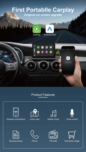 dropship car infotainment system Support Apple CarPlay and Android Carplay