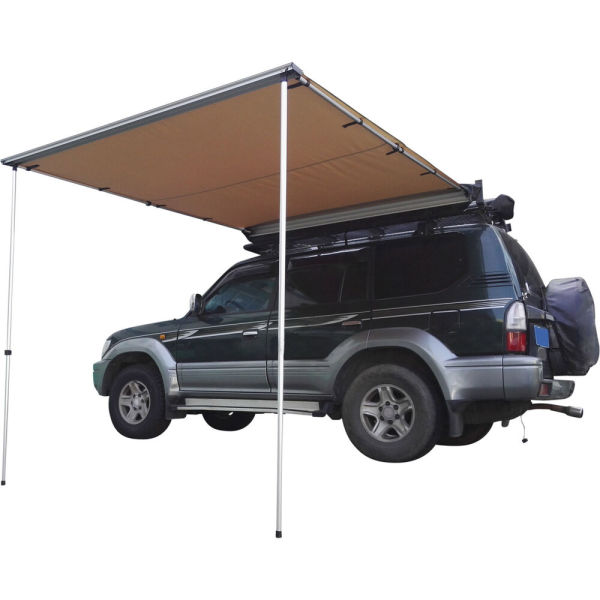 dropship Trustmade 6'*6' Car Side Awning Rooftop Pull Out Tent Shelter Black