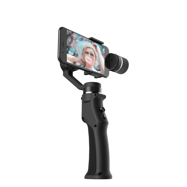 dropship  Funsnap Capture 3 Axis Handheld Gimbal Stabilizer Capture Three-Axis Brushless Gimbal Stabilizer Support Smartphone - (Color: Black)