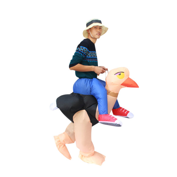 dropship SeasonBlow Fancy Adult Inflatable Costume Halloween Ostrich Costume Fantasy Riding Clothing