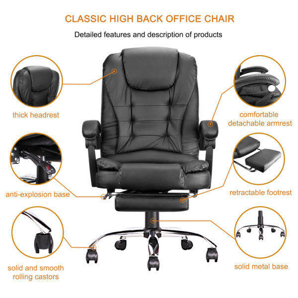 dropship Free shipping Ergonomic Executive Office Swivel Chair, Gaming Chair, Computer Chair, high Back, Adjustable Height and Angle, Cafe  YJ