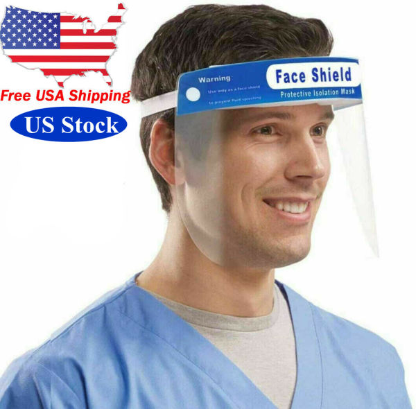 dropship Free local delivery 10PCS Safety Face Shield Full Protection Cap Resistant Spitting Anti-Fog Len