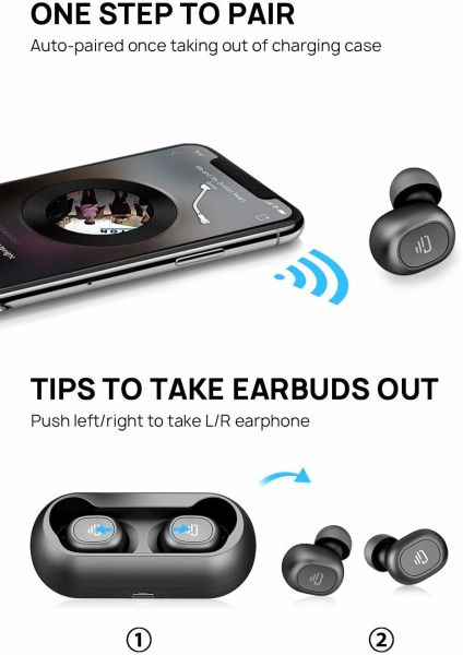 dropship DUDIOS True Wireless Earbuds HiFi Stereo Sound Mini 15Hrs Playtime