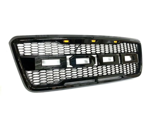 dropship For 2004-2008 Ford F-150 F150 SVT Raptor Style Conversion Front Grille With LED