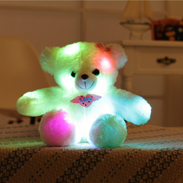 dropship Dropshipping Adorable LED Light up Glow Teddy Bear Teddy Bear Little Stuffed Toys Stuffed Plush Toy with Colorful Flash LED Light Stuffed Animal Toy Gifts for Mother's Day