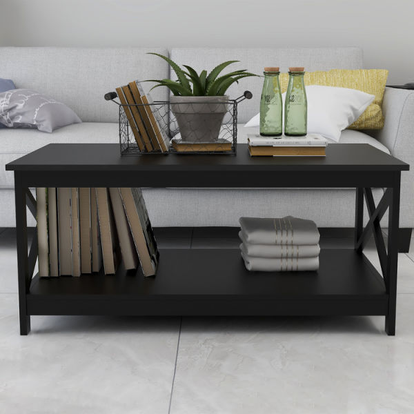 dropship Free  shipping Coffee Table Oxford End Table Side Table,Black