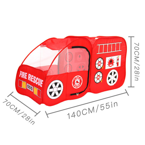 dropship Fire Truck Tent for Kids, Toddlers, Boys & Girls – Red Fire Engine Pop Up Pretend Playhouse for Indoors & Outdoors – Quick Set Up, Weather Proof Fabric, Foldable & Spacious