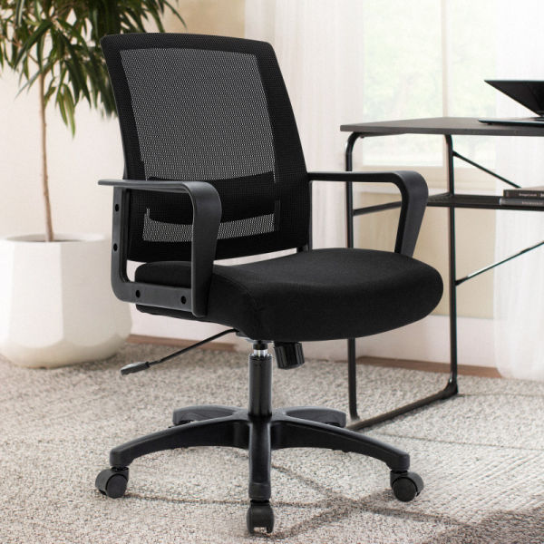 dropship Free Shipping Mesh Task Chair with Armrest Black