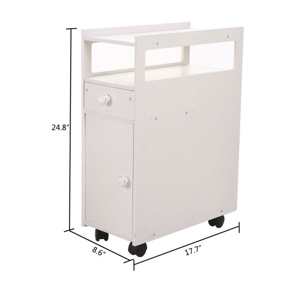 dropship Free Standing Cabinet, Bathroom with Narrow Cabinet Shelf (22 X 45 X 63cm) RT