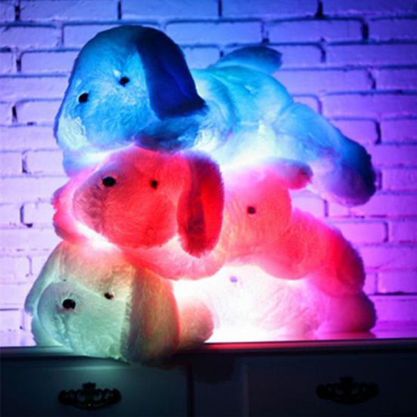 dropship Free Shipping Dropshipping 50cm Creative Night Light LED Stuffed Animals Lovely Dog Glow Plush