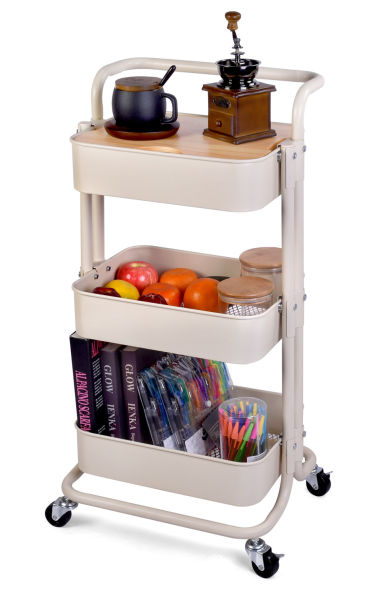 dropship QW Movable Storage Utility Rolling Cart, Rolling End Table for Organization, Fit for Office Home and Kitchen