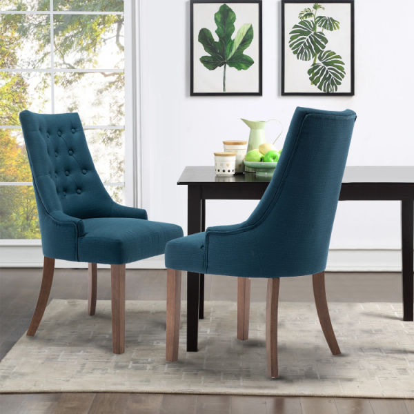 dropship Modern Elegant -Tufted Upholstered Fabric ,Dining Side Csdhair Set of Two