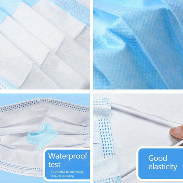 dropship Gift! Convenient to carry, 50Pcs Disposable Face Mask 3-PLY Protective Mask Filters Safety Breathable Anti Dust Hot sale Mouth Masks