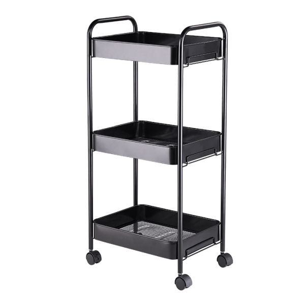 dropship 3-Tier Mobile Utility Cart Kitchen Cart with Caster Wheels