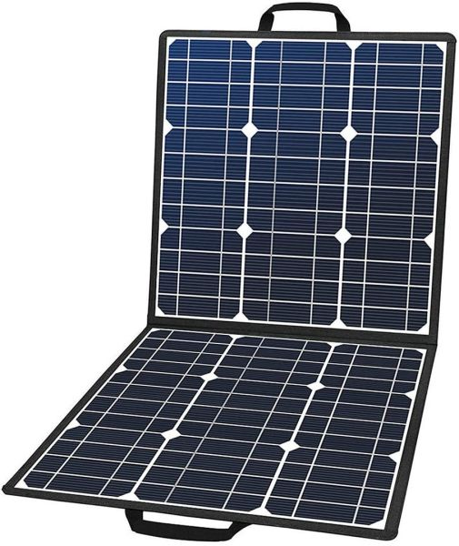 dropship 50W 18V Portable Solar Panel, Flashfish Foldable Solar Charger with 5V USB 18V DC Output Compatible with Portable Generator, Smartphones, Tablets and More