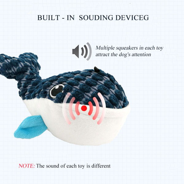 dropship J.CARP Ocean Series Dog Toys,  Cute Durable and Squeaky for Aggressive Chewers
