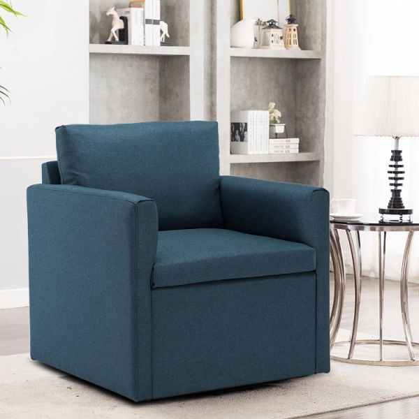dropship Modern Comfy Reading Upholstered Single Sofa Armchair with Spring Seat for Living Room Bedroom Office