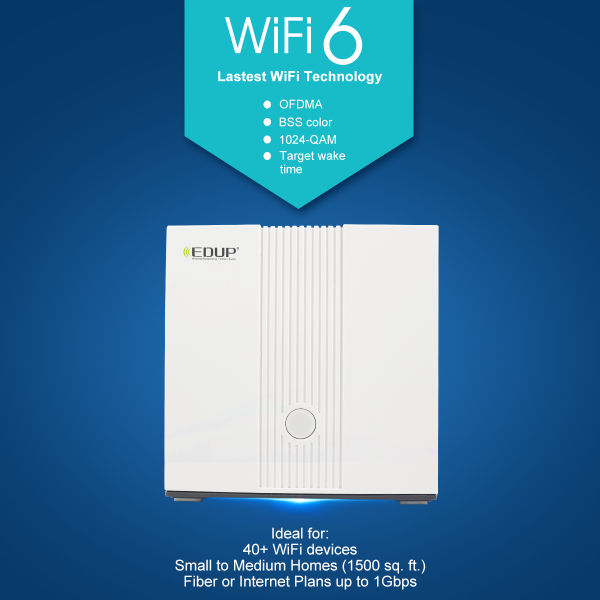dropship EDUP AX1500 Five-core Wifi6 2.4G 5.0 GHz Full Gigabit 5G Dual-frequency Home Wall-penetrating King Router