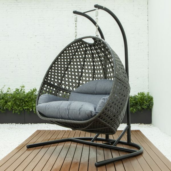 dropship LUXURY DOUBLE SEAT SWING CHAIR w/CUSHION(KD)
