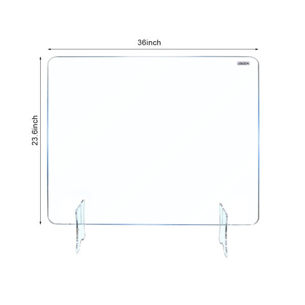 "dropship Acrylic Removable Sneeze Guard, Clear Freestanding Protective Shield, Barrier Against Virus Spread Board, Desk Divider (36"" x 23.6"" x0.24"")"