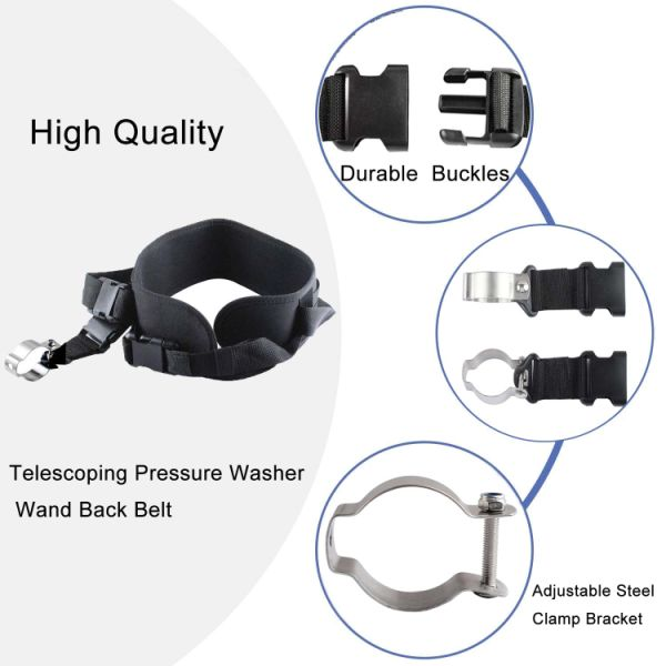dropship pressure washer telescoping wand support belt