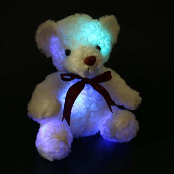dropship Dropshipping Plush Glowing Teddy Bear with Bow-tie LED Stuffed Animal Teddy Bear Gifts for Kids