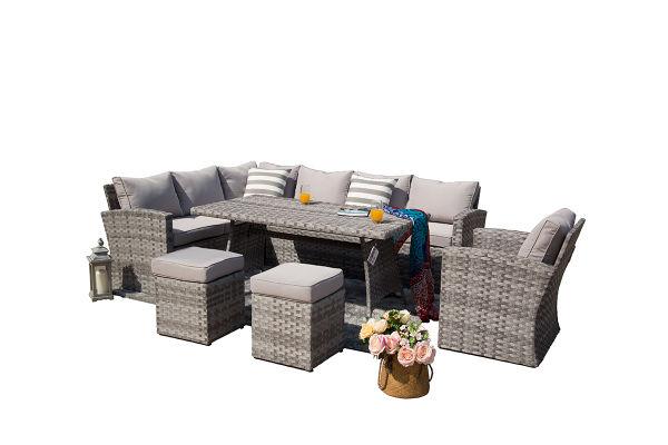 6 Piece Outdoor Pe Rattan Wicker Sofa