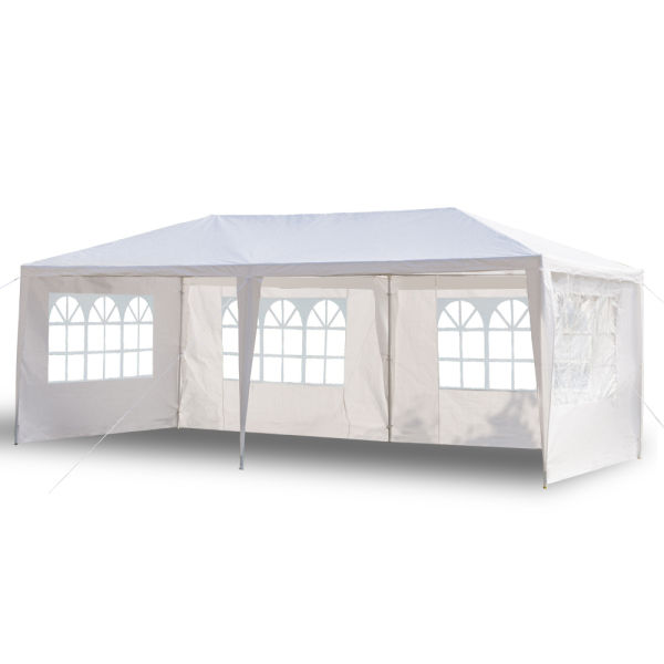dropship US Stock 3 x 6m Four Sides Waterproof Tent with Spiral Tubes White