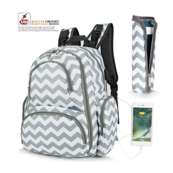 dropship Mummy Bag/Backpack Nappy Baby Diaper Comfotable Travel&Nursing Handbag Multi-Function Wave Printed