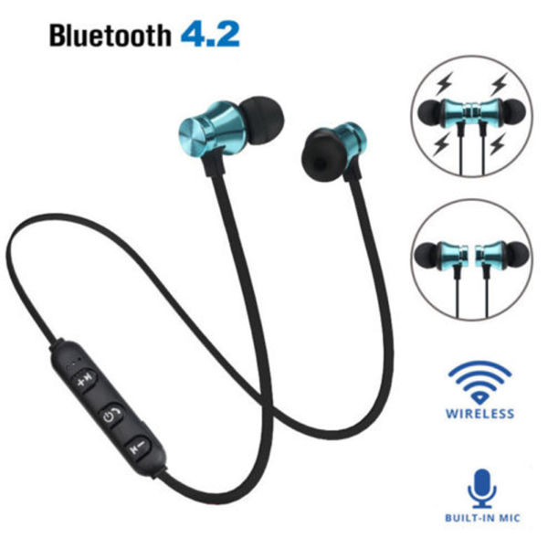 dropship Magnetic In-Ear Stereo Headset Earphone Wireless Bluetooth 4.2 Headphone Gift