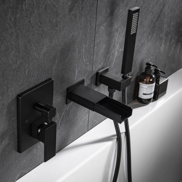 dropship TrustMade Pressure-Balance Waterfall Single Handle Wall Mount Tub Faucet with Hand Shower - 2W01