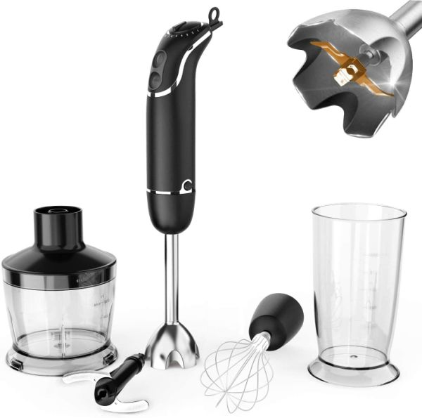 dropship KOIOS 800-Watt/ 12-Speed Immersion Hand Blender, 4-in-1 Set