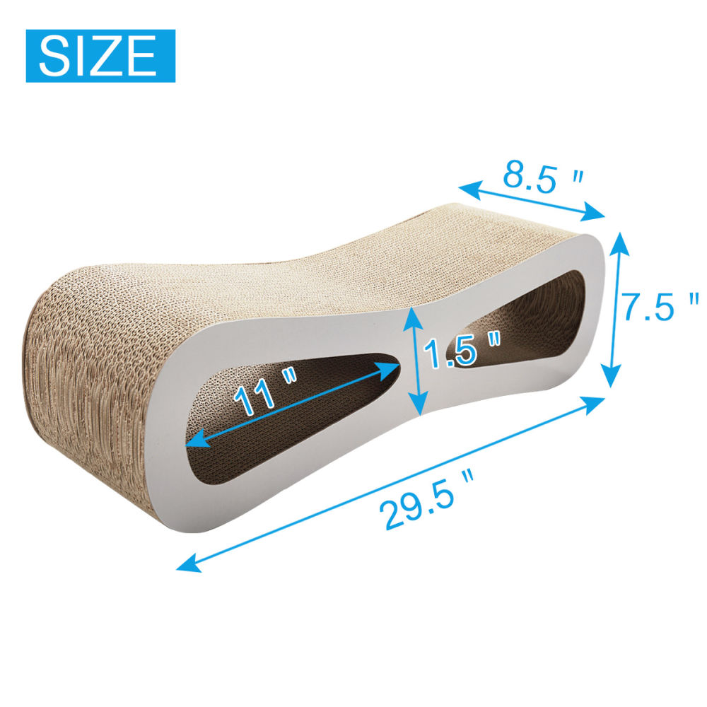 Cat-eyed Cat Scratcher and Lounge, Protect Furniture, Functional, Original Wood Color