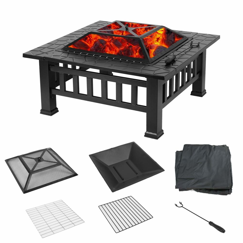 Upland Fire Pit with Cover